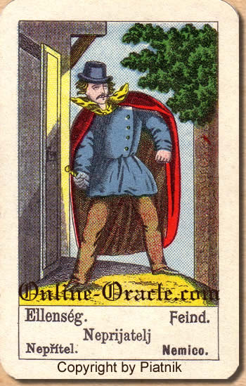Feind, Biedermeier fortune telling cards with ancient tarot