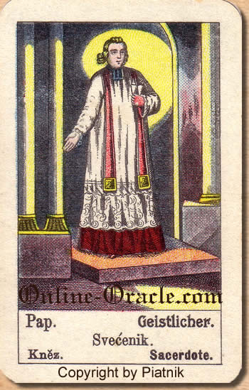 Geistlicher, Biedermeier fortune telling cards with ancient tarot