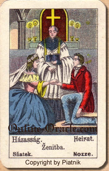 Heirat Biedermeier fortune telling cards with ancient tarot