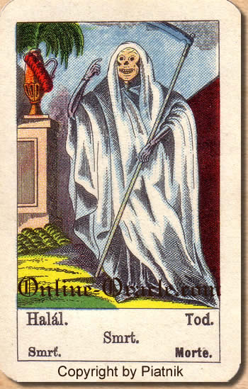 Tod Biedermeier fortune telling cards with ancient tarot