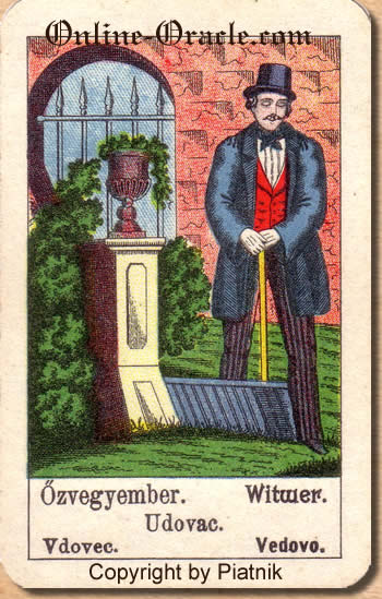 Witwer Biedermeier fortune telling cards with ancient tarot