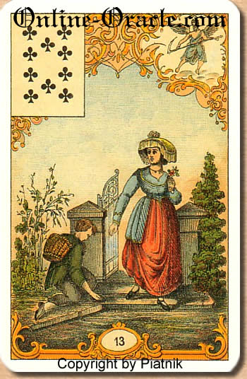 Success and happiness, Destin Antique fortune telling cards with divination and cartomancy