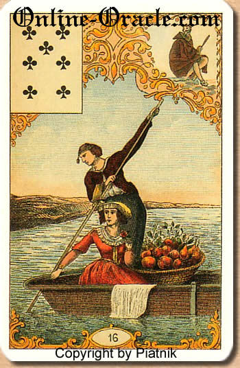 Wealth from Destin Antique Fortune telling cards, cartes cartomancy fortune
