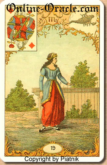 A serpent woman Destin Antique fortune telling cards