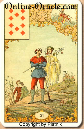 A long journey Destin Antique fortune telling cards