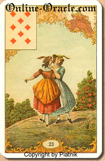 Good time for invitations and short trips Destin Antique fortune telling cards, cartomancy and fortune divinatoire