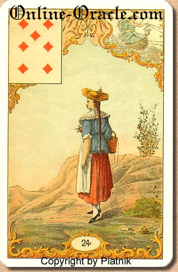 Moment of decision, turning point Destin Antique fortune telling cards