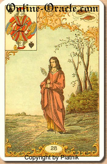 Court Usher, inland revenue official Destin Antique Fortune telling cards