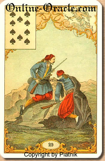 Suffering and tears, Destin Antique Fortune telling cards, cartes cartomancy fortune