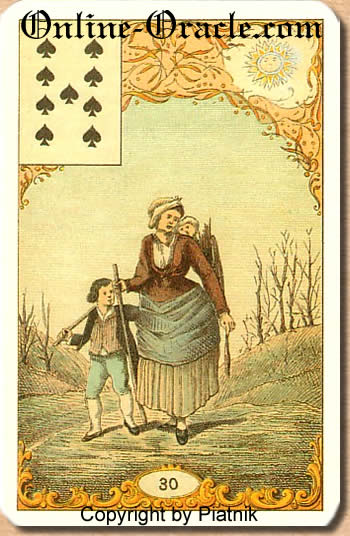 Determination Destin Antique fortune telling cards with divination and cartomancy