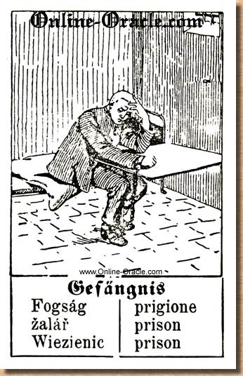 Prison  Hegenauer´s antique ancient Fortune telling Cards from Germany