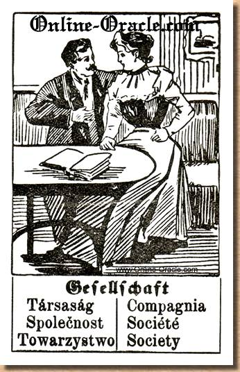 Society Hegenauer´s antique ancient Fortune telling Cards from Germany