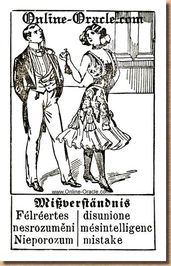 Mistake, misunderstanding Hegenauer´s antique ancient Fortune telling Cards from Germany