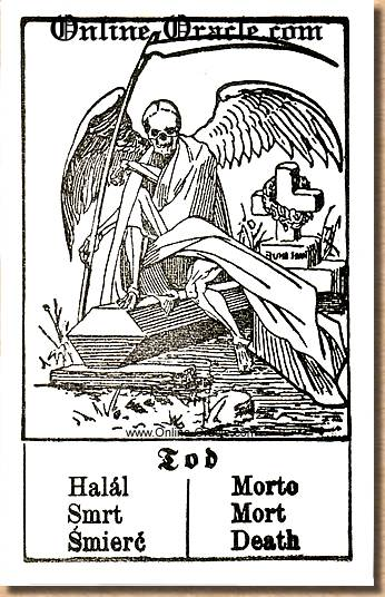 Death Hegenauer´s antique ancient Fortune telling Cards from Germany