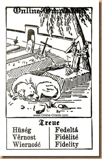 Fidelity Hegenauer´s antique ancient Fortune telling Cards from Germany