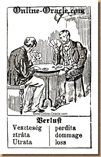 Loss Hegenauer´s antique ancient Fortune telling Cards from Germany