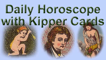 Free daily Horoscope antique Kipper cards