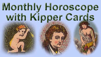Free monthly Horoscope antique Kipper cards