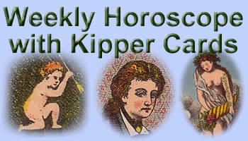 Free weekly Horoscope antique Kipper cards