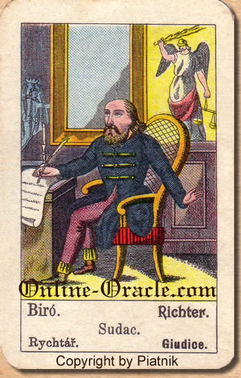 Richter Biedermeier fortune telling cards with ancient tarot