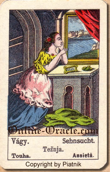 Sehnsucht Biedermeier fortune telling cards with ancient tarot