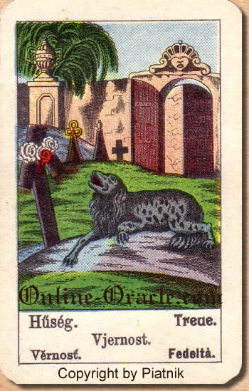 Treue Biedermeier fortune telling cards with ancient tarot