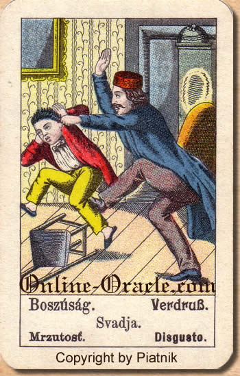 Verdruss Biedermeier fortune telling cards with ancient tarot