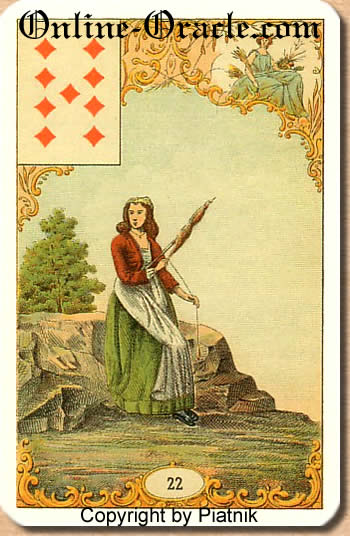 Failure and financial losses, Destin Antique Fortune telling cards, cartes cartomancy fortune divinatoire
