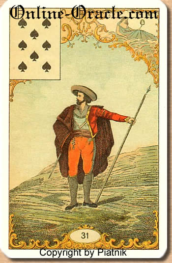 Worries, failures, disappointment Destin Antique fortune telling cards with divination and cartomancy