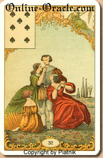 Decisions Destin Antique fortune telling cards with divination and cartomancy