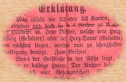 Instruction of Hegenauer Fortune Telling Cards