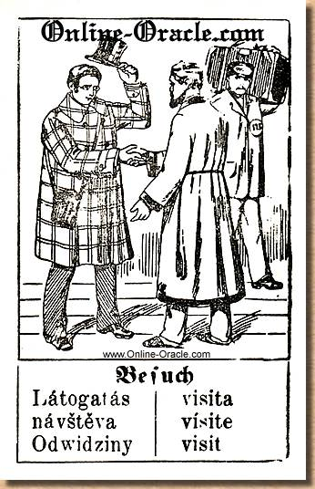 The visit - Hegenauer´s antique ancient Fortune telling Cards from Germany