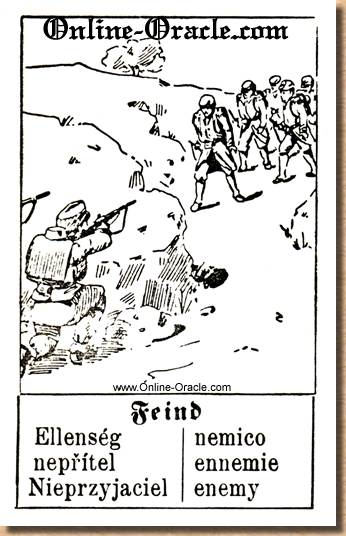 Enemy Hegenauer´s antique ancient Fortune telling Cards from Germany