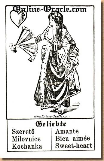 Sweet-heart Hegenauer´s antique ancient Fortune telling Cards from Germany