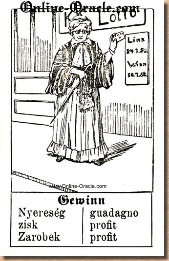 Profit and winning  Hegenauer´s antique ancient Fortune telling Cards from Germany