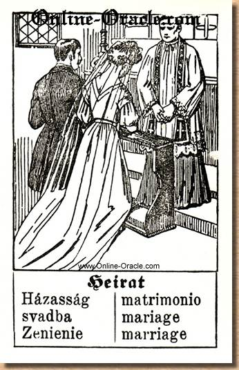 Marriage Hegenauer´s antique ancient Fortune telling Cards from Germany