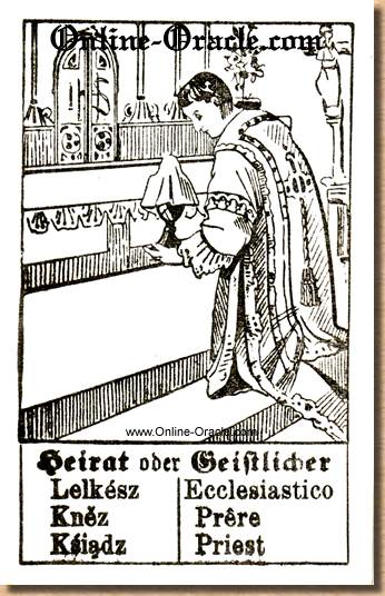 Marriage or priest Hegenauer´s antique ancient Fortune telling Cards from Germany