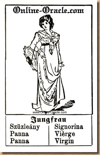 Virgin Hegenauer´s antique ancient Fortune telling Cards from Germany