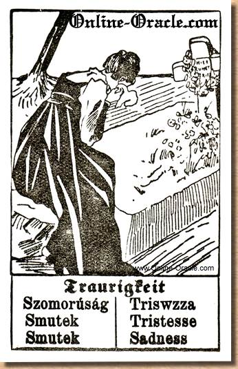 Sadness Hegenauer´s antique ancient Fortune telling Cards from Germany