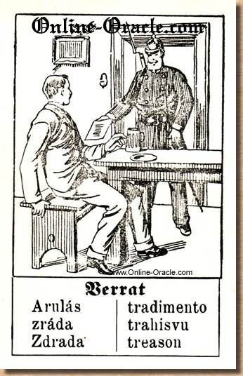 Treason Hegenauer´s antique ancient Fortune telling Cards from Germany